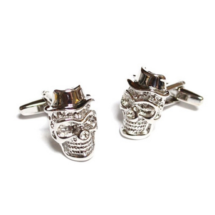 Freaky Skulls with Hat Cufflinks