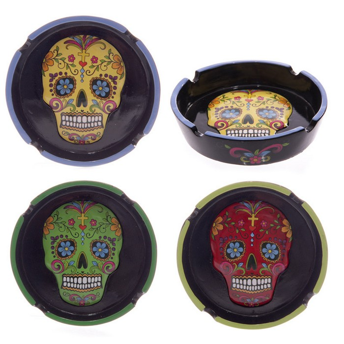 Day of the Dead Skull Ashtray