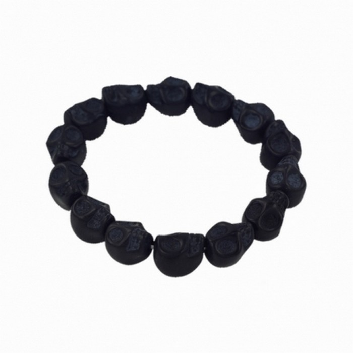Black Skull stretchy Bracelet