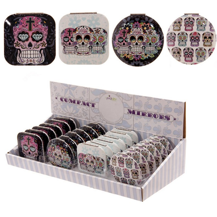 Skull Compact Mirror- Day of the Dead Lauren Billingham Range