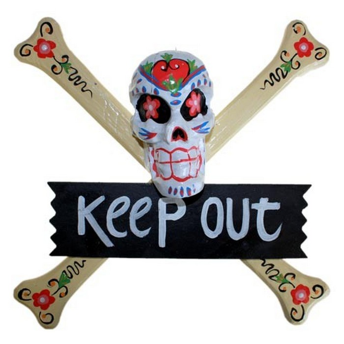 Skulls Warning Sign - KEEP OUT