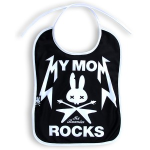 Six Bunnies Baby Bib- My Mom Rocks