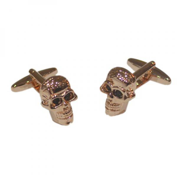 Rose Gold Skulls Cufflinks