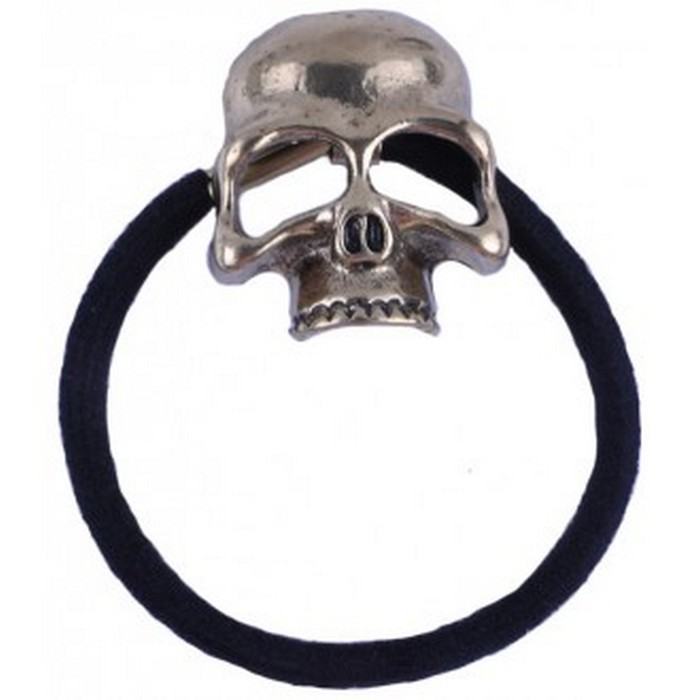 Bronze Skull Head Hair Bobble
