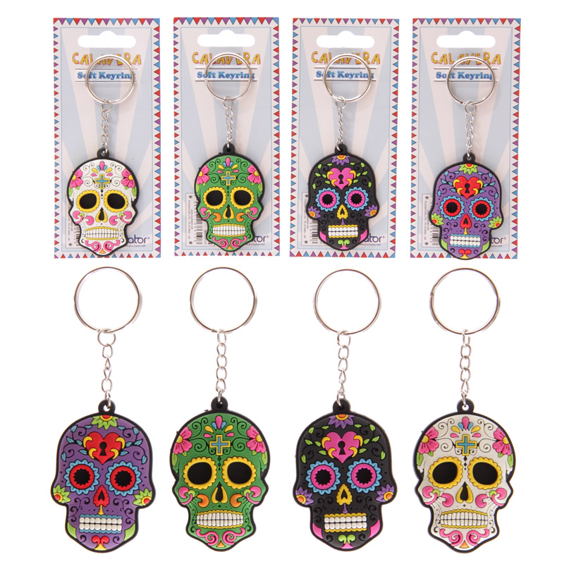 Skull Keyring - Day of the Dead